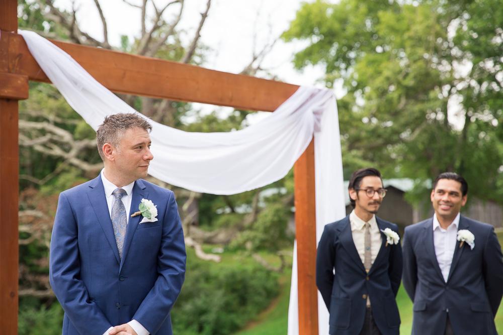 Groom watching the bride | Candid Northern Virginia Wedding Photographer | Megan Rei Photography