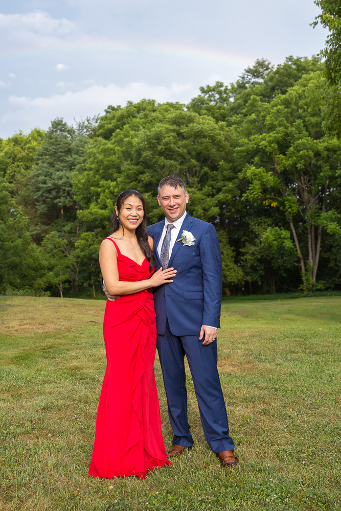 Rainy wedding day followed by a gorgeous rainbow in Culpeper, VA | Virginia Wedding Photographer