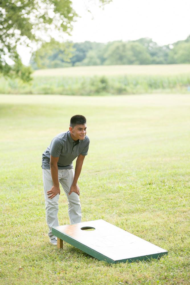 Lawn games for a rustic wedding reception | Northern Virginia Barn Wedding