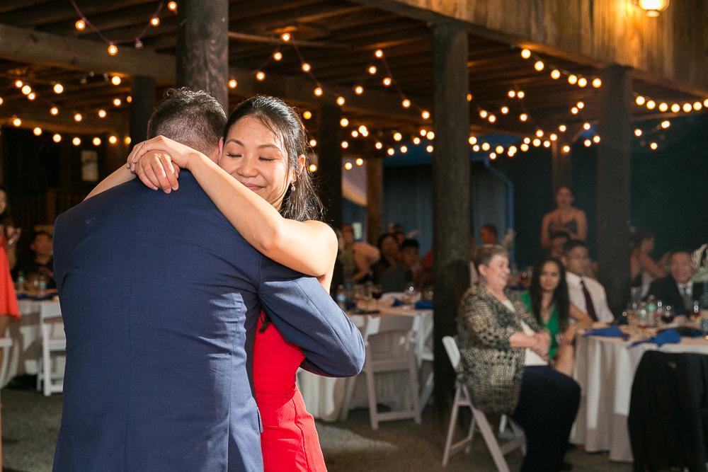 First dance as husband and wife | Barn Wedding in Northern Virginia