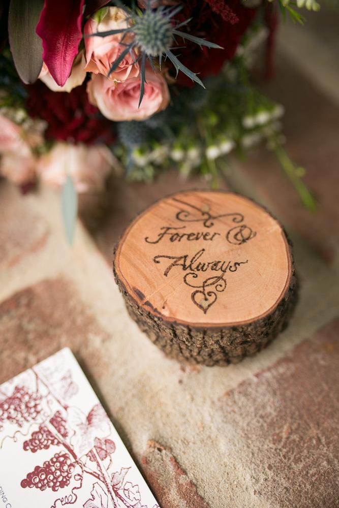 Custom Wood Wedding Ring Box | Northern Virginia Wedding