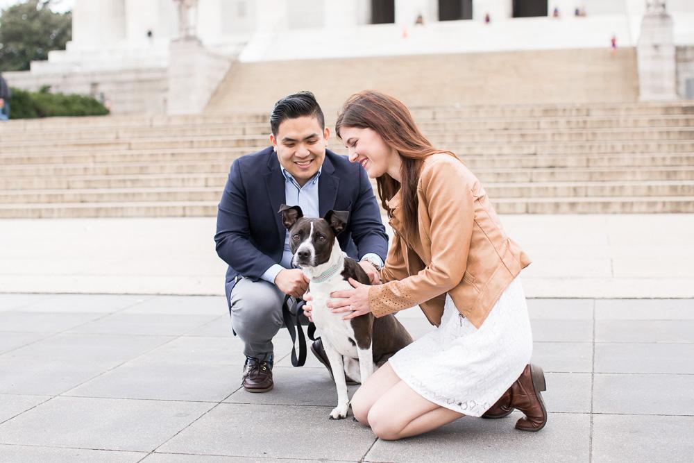 Engagement photos with dog | Washington DC Dog Photographer | Pet photography in Washington DC