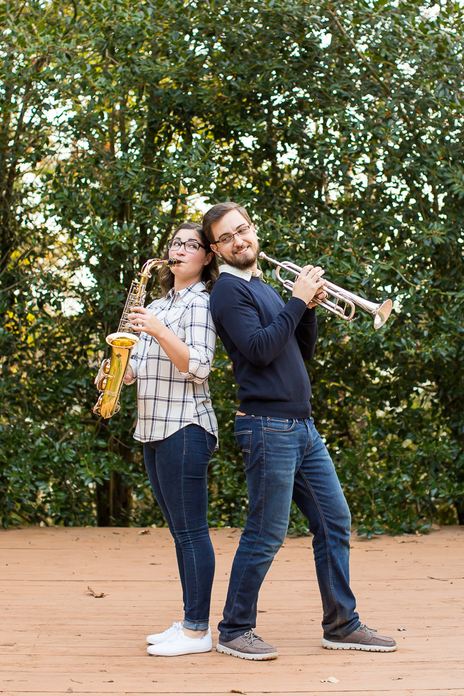 Musical instrument engagement shoot in Northern Virginia | Megan Rei Photography