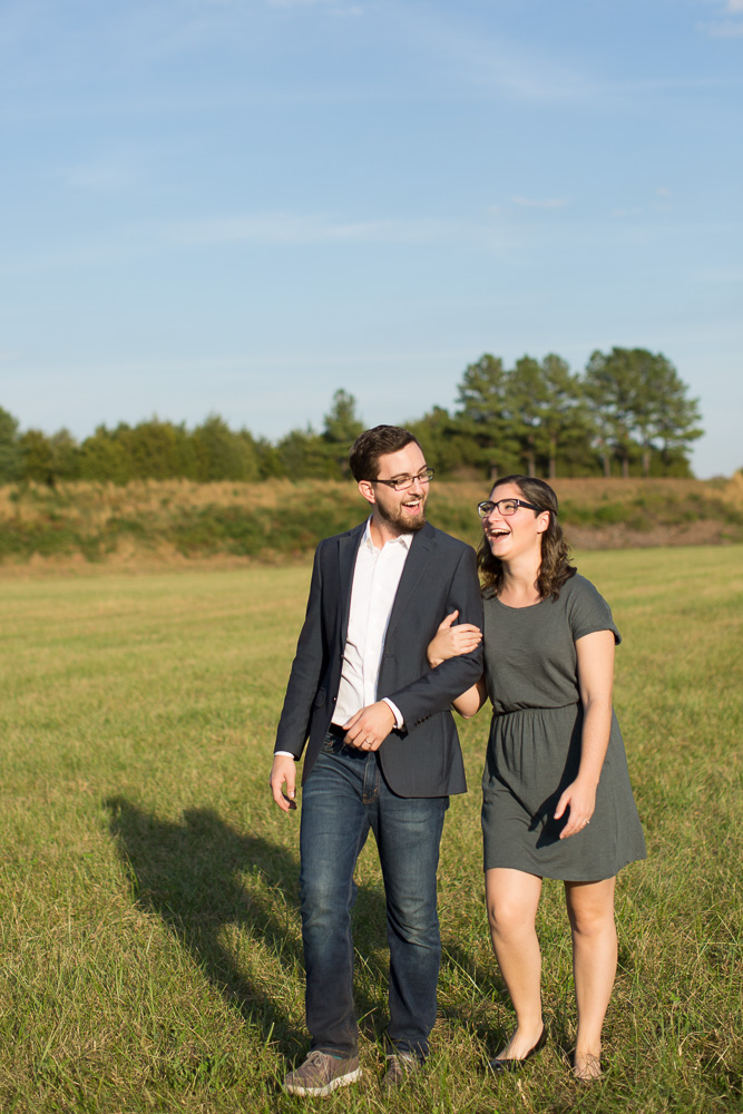 Candid engagement photography in Fauquier County Virginia