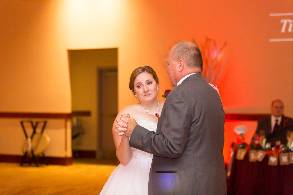 Bride tearing up during the father-daughter dance | Candid Wedding Photographer in Northern Virginia