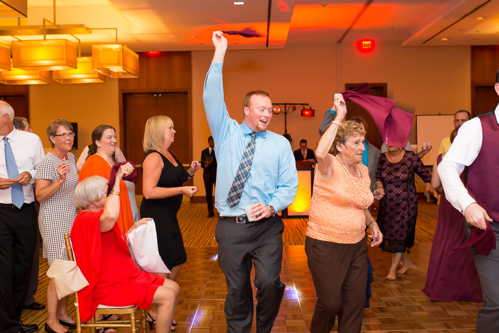 Wedding guests having fun during the bridal dance at the Westin Washington Dulles Hotel | Northern Virginia Wedding Reception Venues