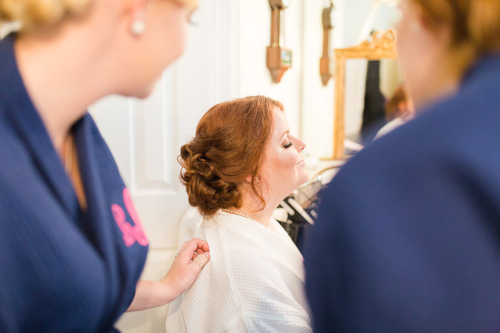 Getting ready for the wedding day | Bridal makeup by Kristal Lane, Richmond Makeup Artist