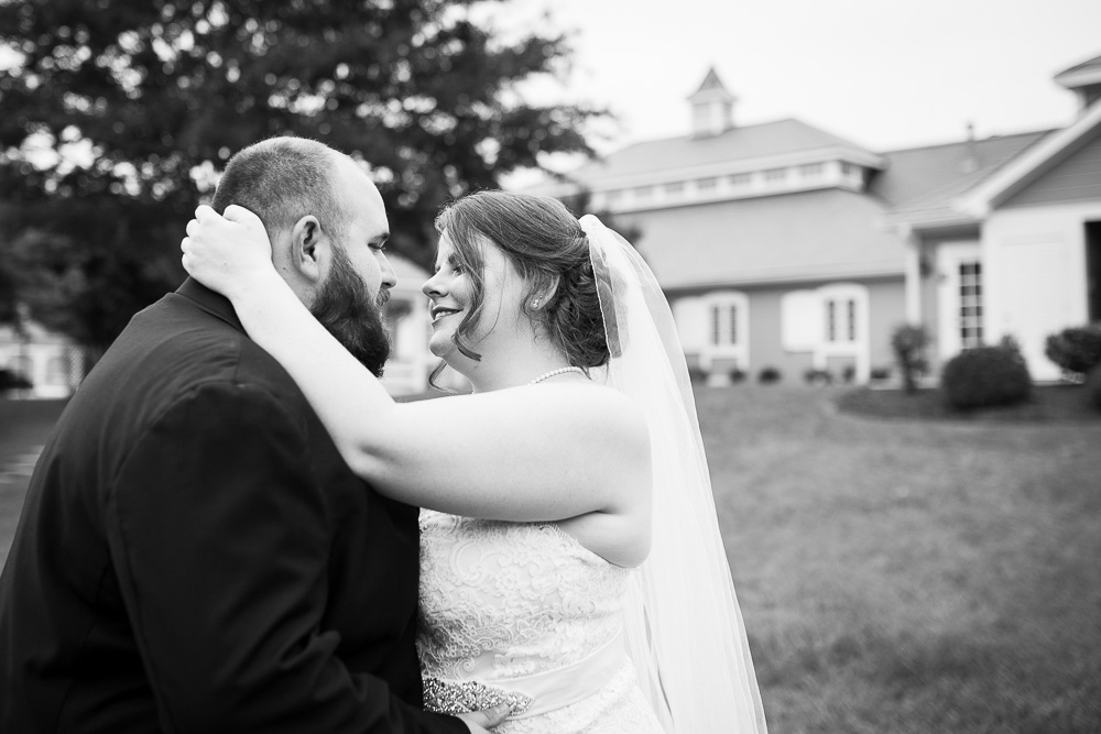 Sweet wedding picture of bride and groom | Documentary wedding photography in Richmond