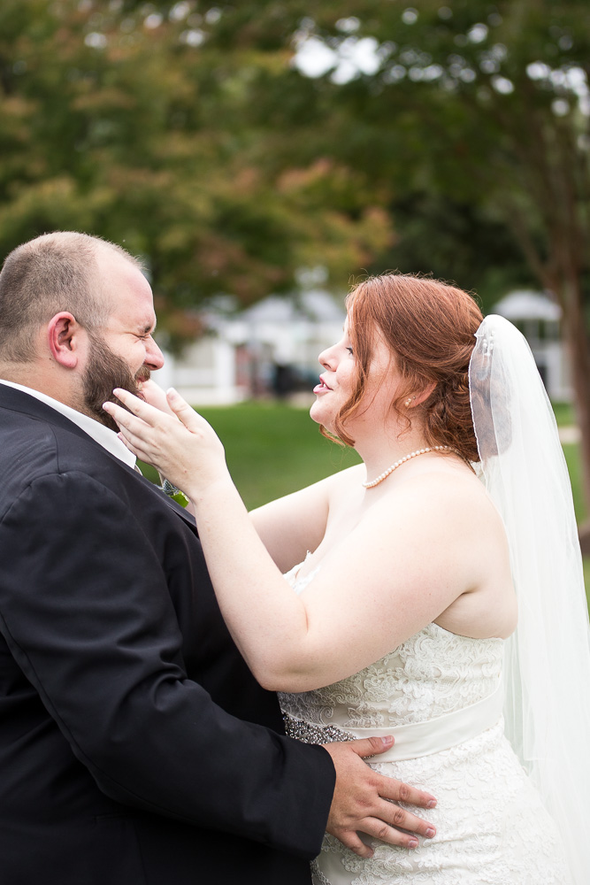 Having fun during the First Look | Richmond Virginia Wedding | Candid Richmond Photographer