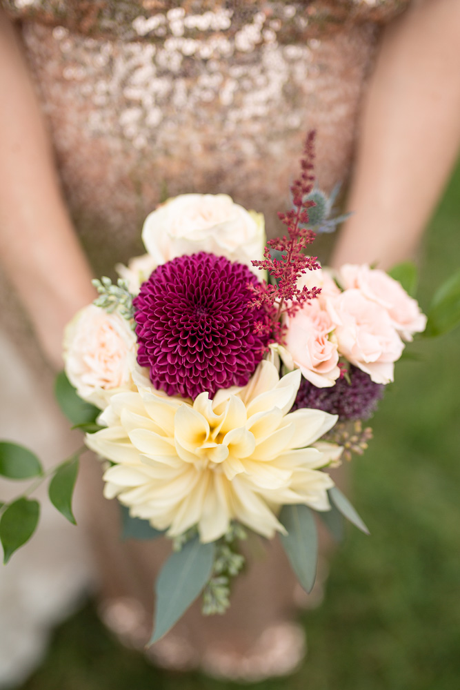 Maroon and blush wedding bouquet from The Arranger's Market | Richmond Virginia Wedding Florist | Megan Rei Photography