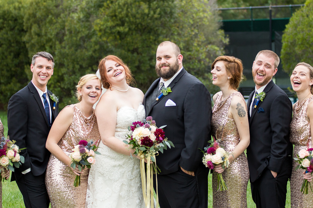 Candid wedding party photos in Richmond, Virginia