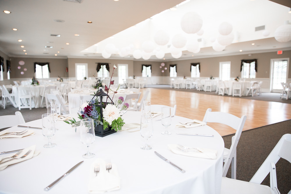 Wedding reception venue at Fox Hall Swim and Racquet Club in Richmond, Virginia