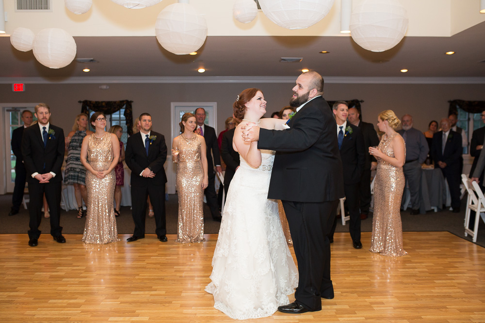 Newlyweds first dance in Richmond, Virginia