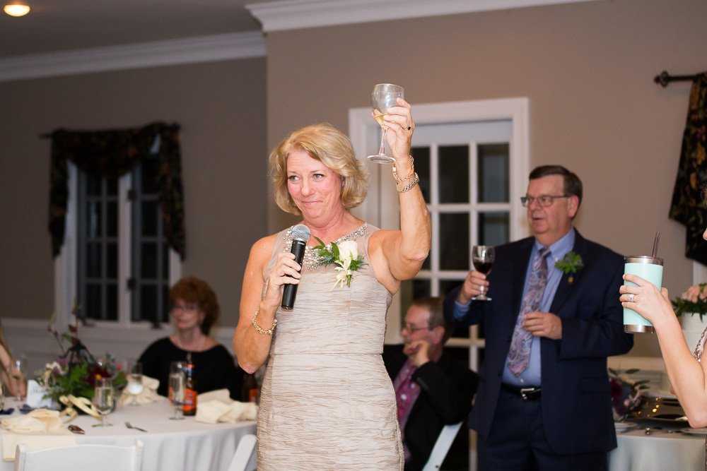 Mother of the bride giving a toast