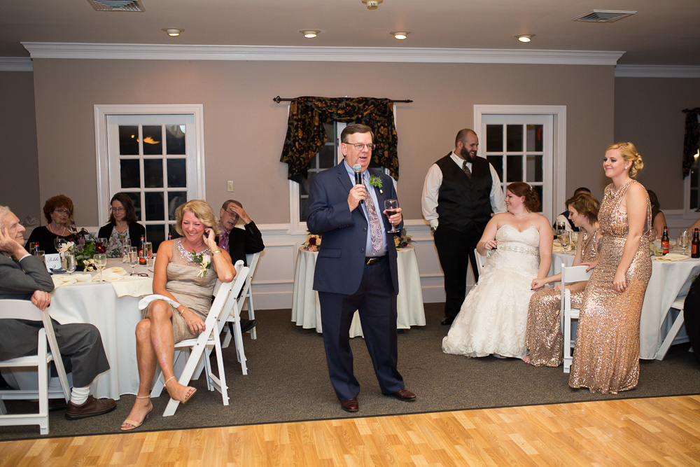 Wedding toast from father of the bride