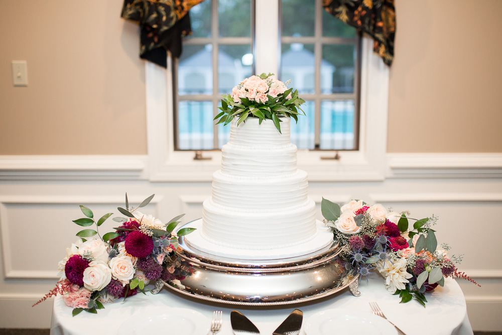 Wedding cake from Ukrop's bakery in Richmond, Virginia