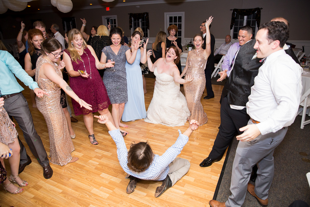 Fun dance floor during Richmond, VA wedding