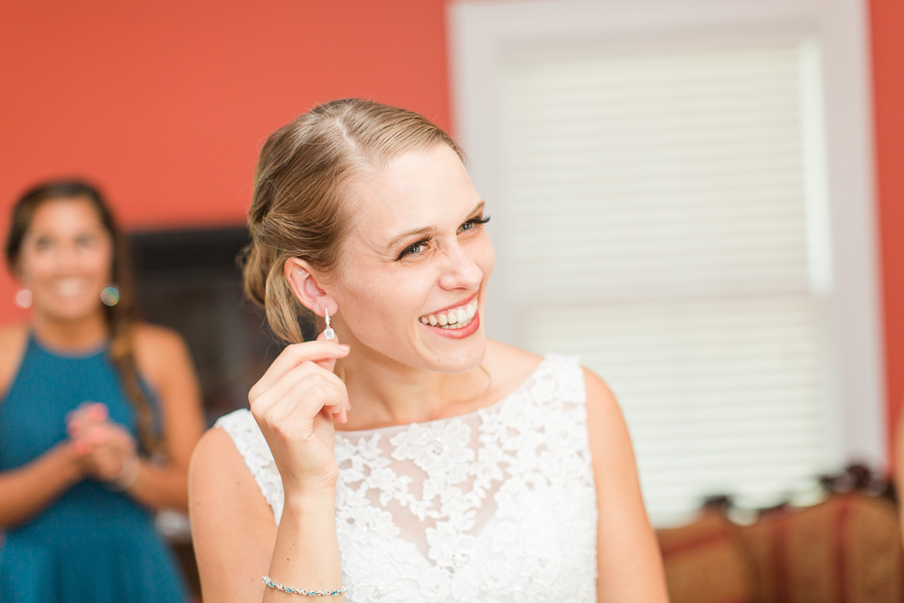 Smiling bride at Mountain Run Winery in Culpeper | Culpeper Candid Wedding Photographer | Megan Rei Photography