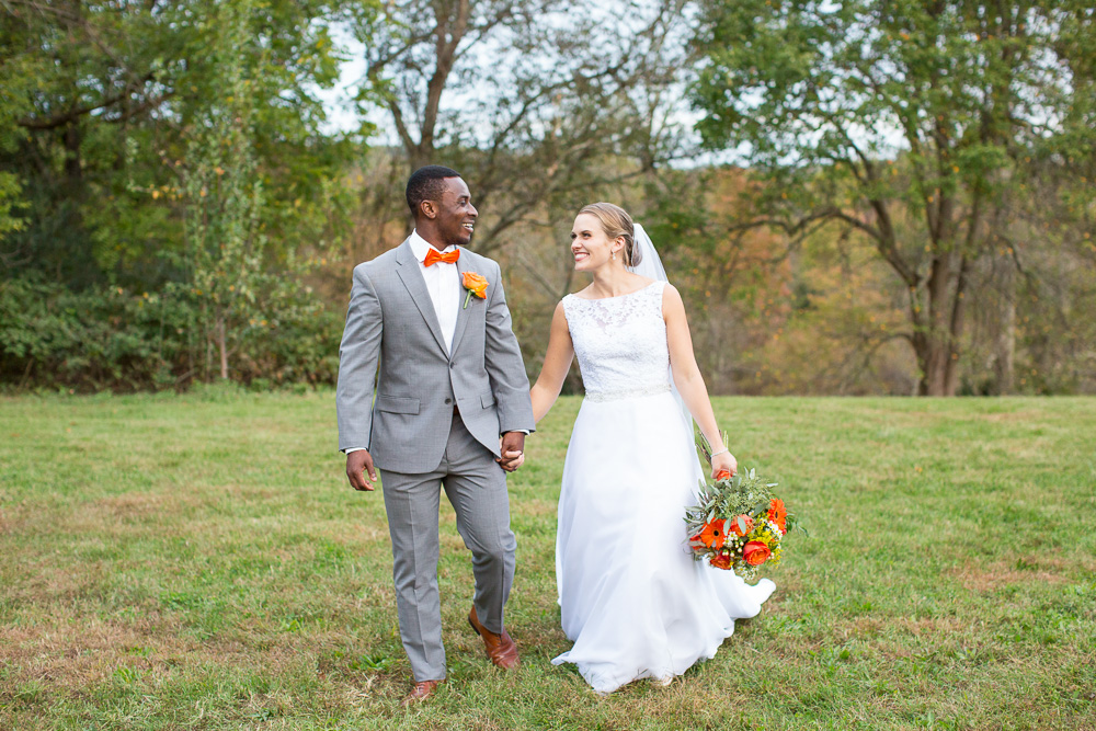 Happy wedding couple at their outdoor wedding in Culpeper, VA | Winery wedding venues in Northern Virginia | Megan Rei Photography
