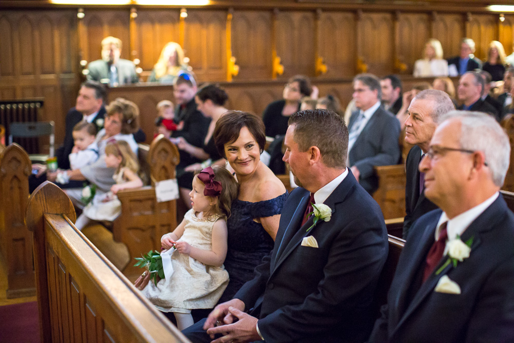 Photojournalistic Wedding Photography in Rochester, NY | Wedding Ceremony at Chapel Hill