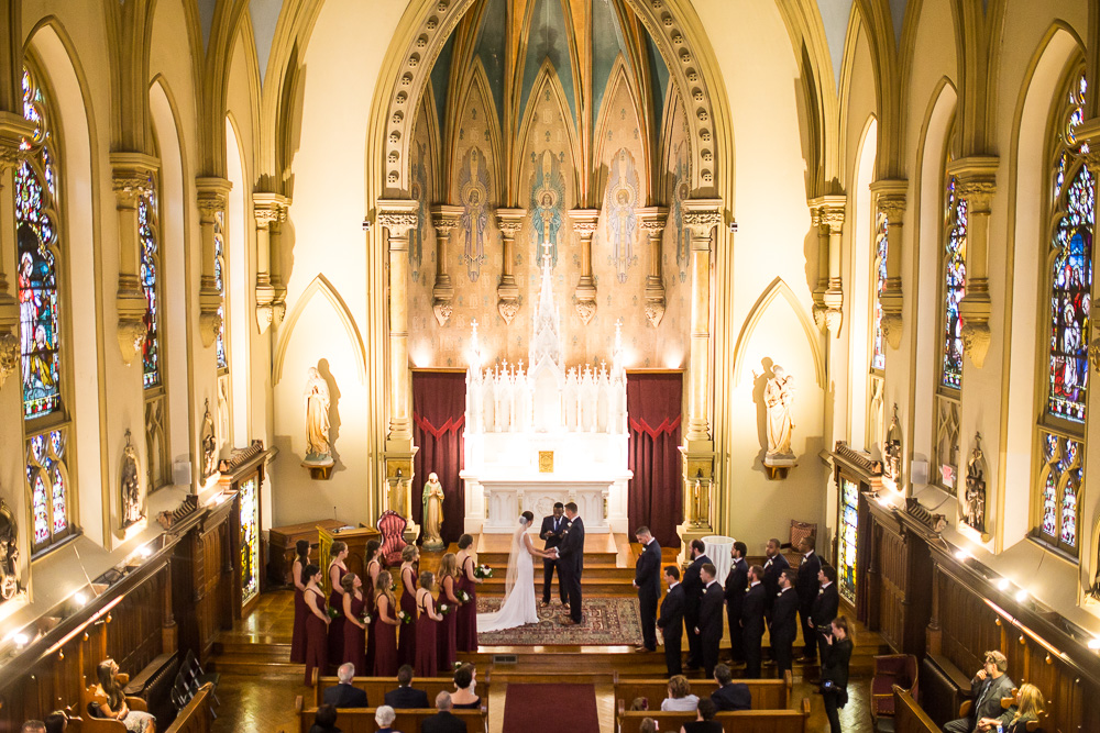 Wedding ceremony at Chapel Hill, Rochester, NY | Western New York Wedding Photographer