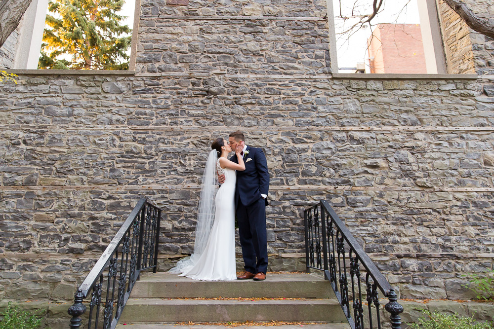 Bride and groom wedding photos at St. Joseph's Park | Best outdoor wedding venues in Rochester, NY