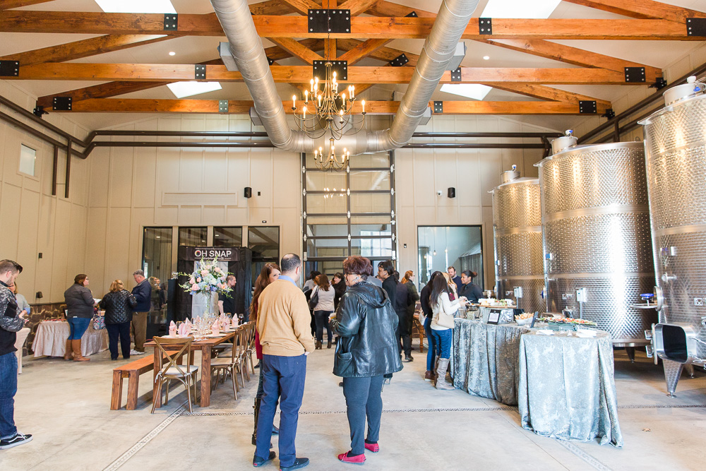 Wedding reception space in the Tank Room at The Winery at Bull Run Wedding Showcase 2018