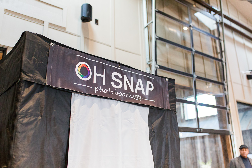 Oh Snap Photobooths set up at The Winery at Bull Run Wedding Showcase