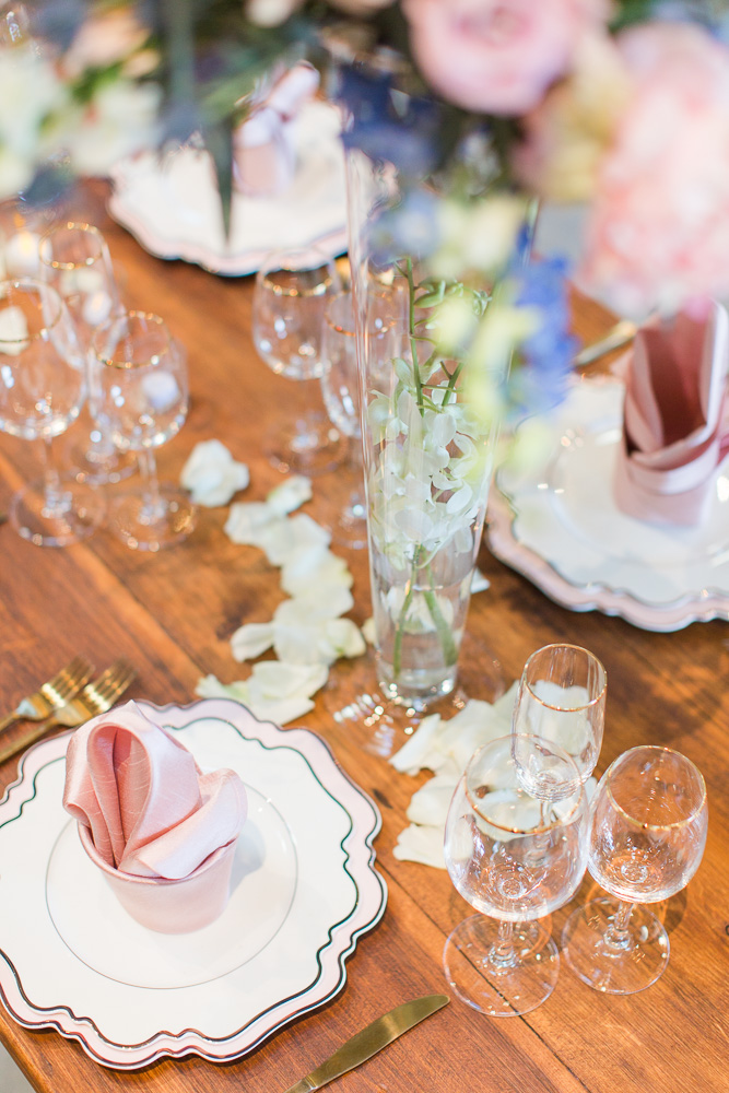 Barn table rentals from Honeywood Rentals | The Winery at Bull Run | Virginia Wedding Photographer