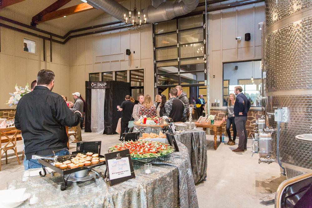 New wedding reception venue at Winery at Bull Run Production Barn | Northern Virginia Wedding Photographer