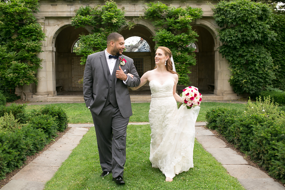 Happy wedding couple at George Eastman House