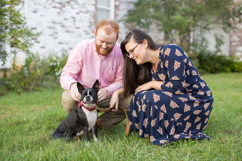 Boston Terrier at engagement shoot in Northern Virginia | Bealeton, Virginia Photographer