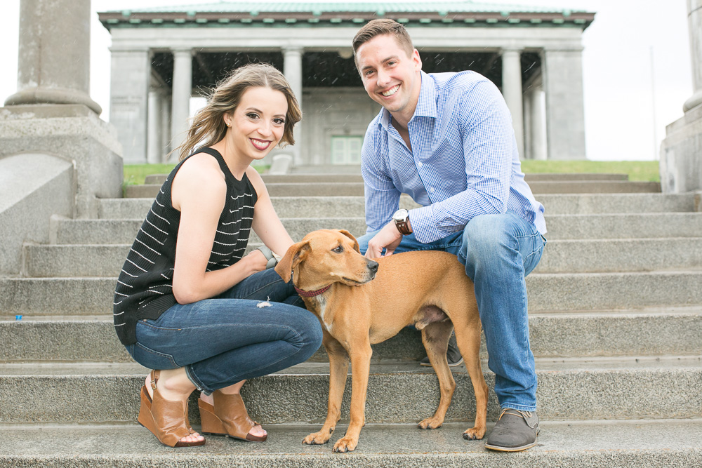 Dog with parents during engagement shoot | Virginia Dog and Wedding Photographer