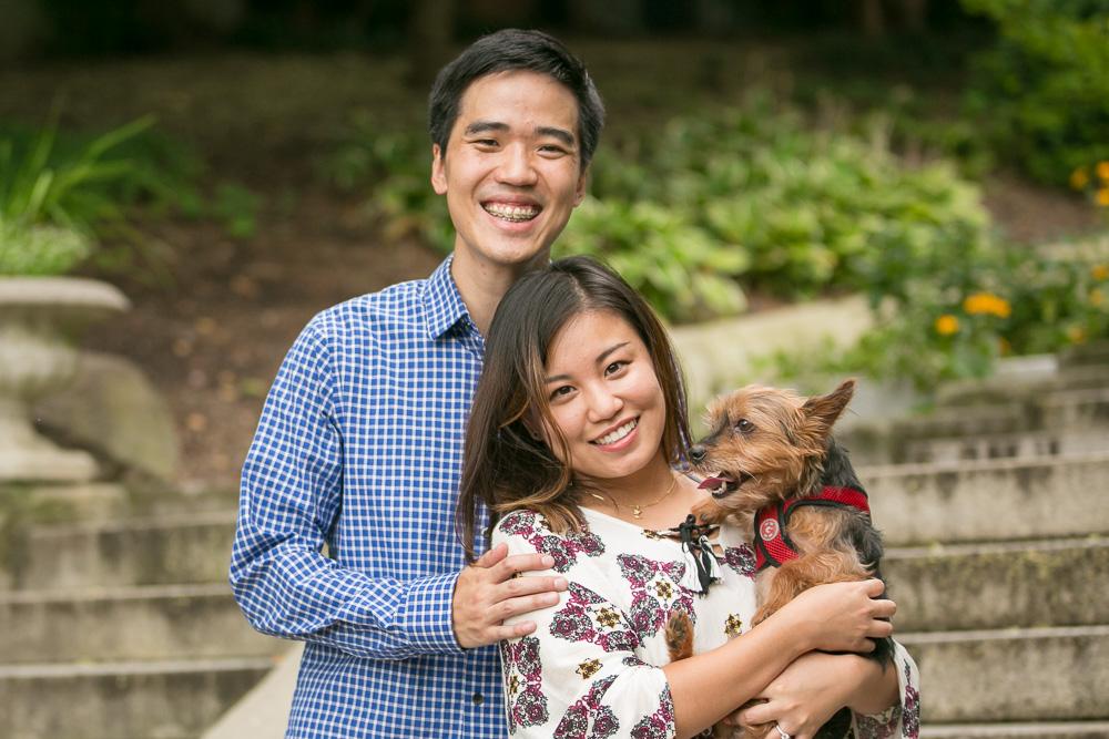 Proposal Photographer in Washington DC | Spanish Steps Wedding Proposal with Dog