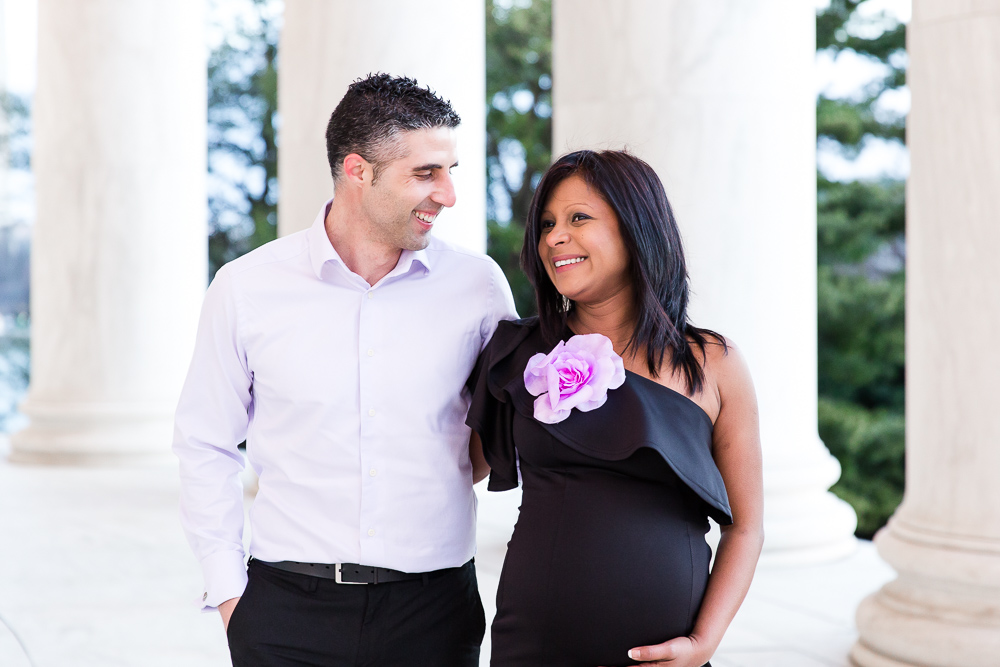 Candid maternity photography in Washington DC | Jefferson Memorial maternity photos