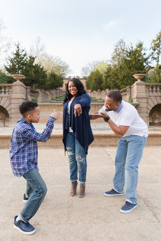 Admiring the new engagement ring | Best Places in DC to Propose | Meridian Hill Park