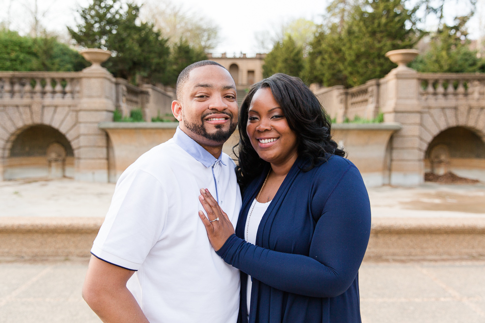 Engagement photos at Meridian Hill Park in Washington DC | Meridian Hill Park Proposal Photography