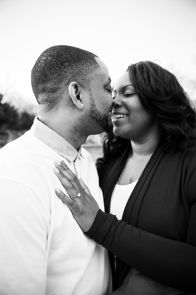 Romantic photo of the newly engaged couple | Washington DC Proposal Photographer