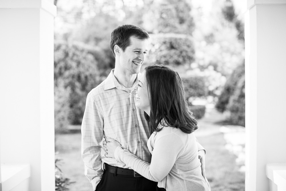 Candid laughter engagement picture | Bealeton Virginia Engagement Photography