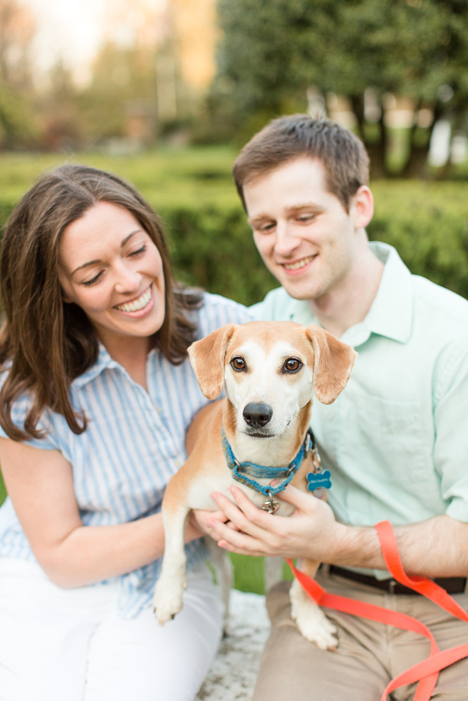 Best engagement dog pictures | Warrenton Virginia Engagement Photographer | Northern Virginia Dog Photographer