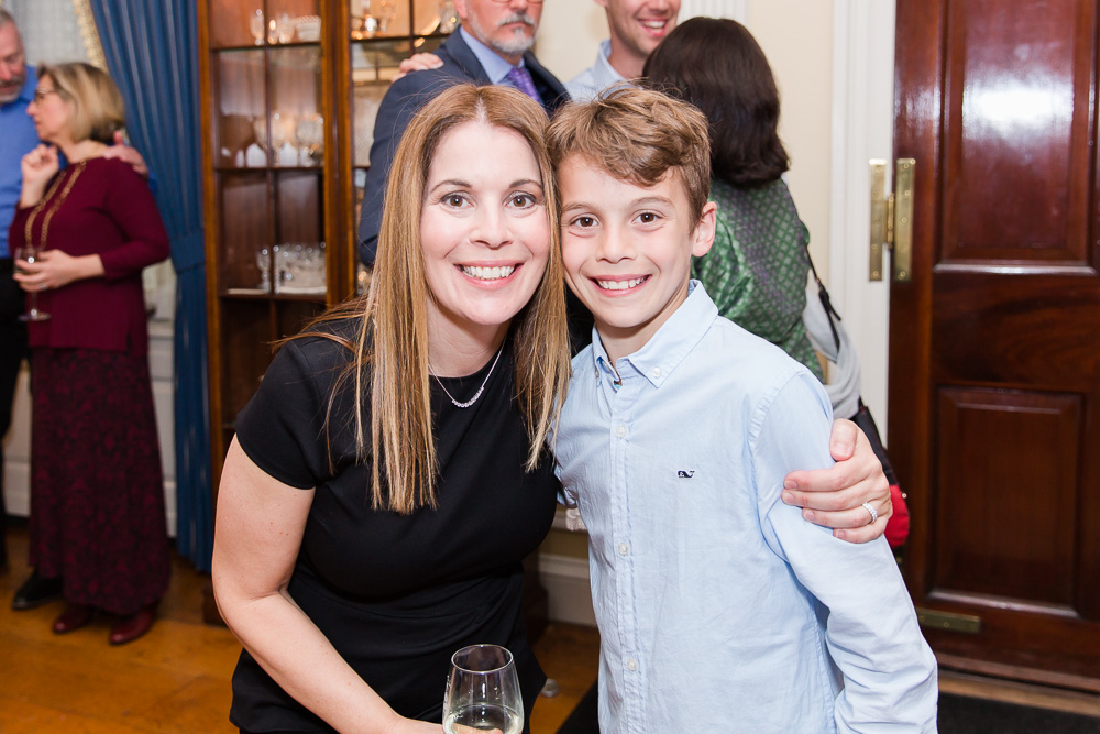 Smiling photo of mother and son at Glenview Mansion, Rockville Maryland