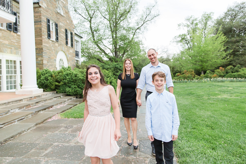 Happy family photo during the Bat Mitzvah at Glenview Mansion in Rockville | Maryland Bat Mitzvah Photographer | Megan Rei Photography
