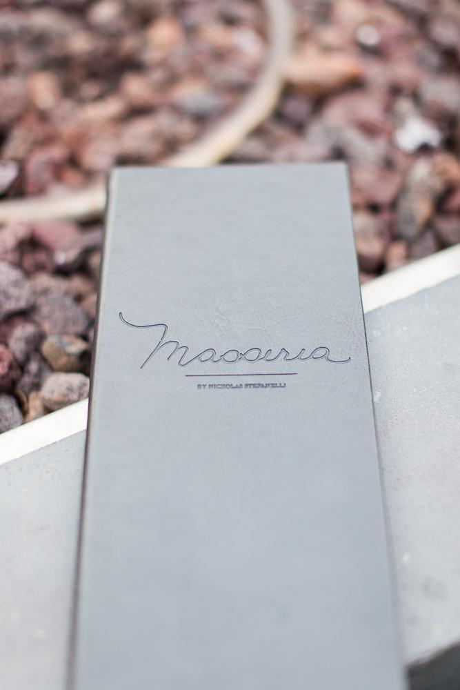 The Masseria menu