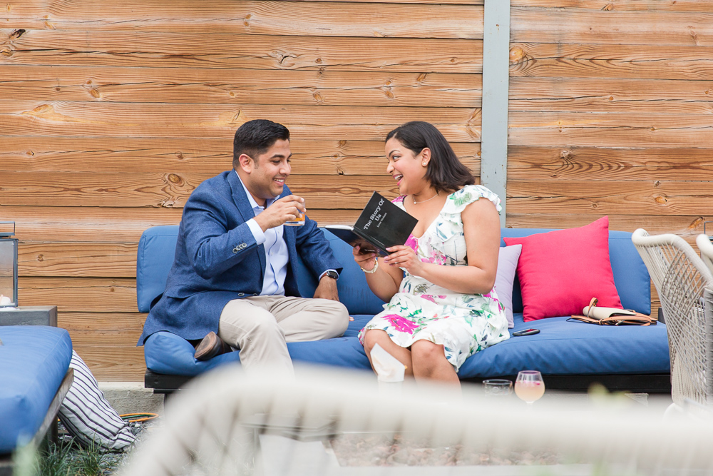 """Reading """"The Story of Us"""" book that Vedant designed to tell their love story 
