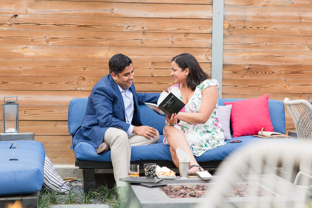 Surprise proposal photos at Masseria DC | Candid Proposal and Engagement Photography | Megan Rei Photography