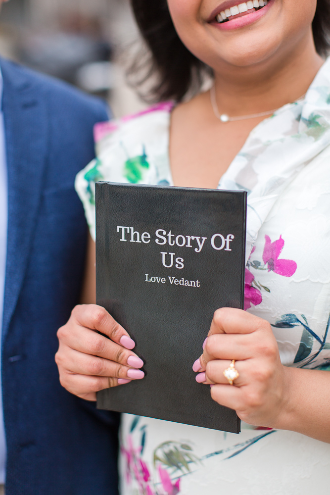 Book designed by Vedant for the surprise proposal