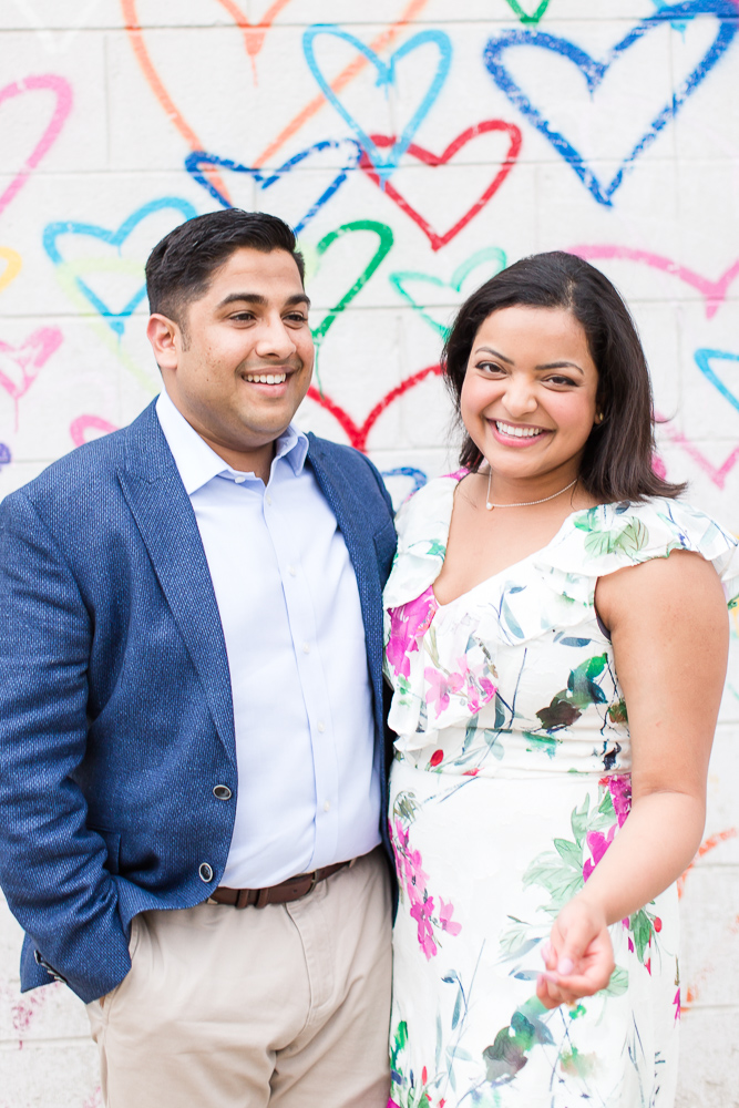 Happy couple after the proposal at Union Market