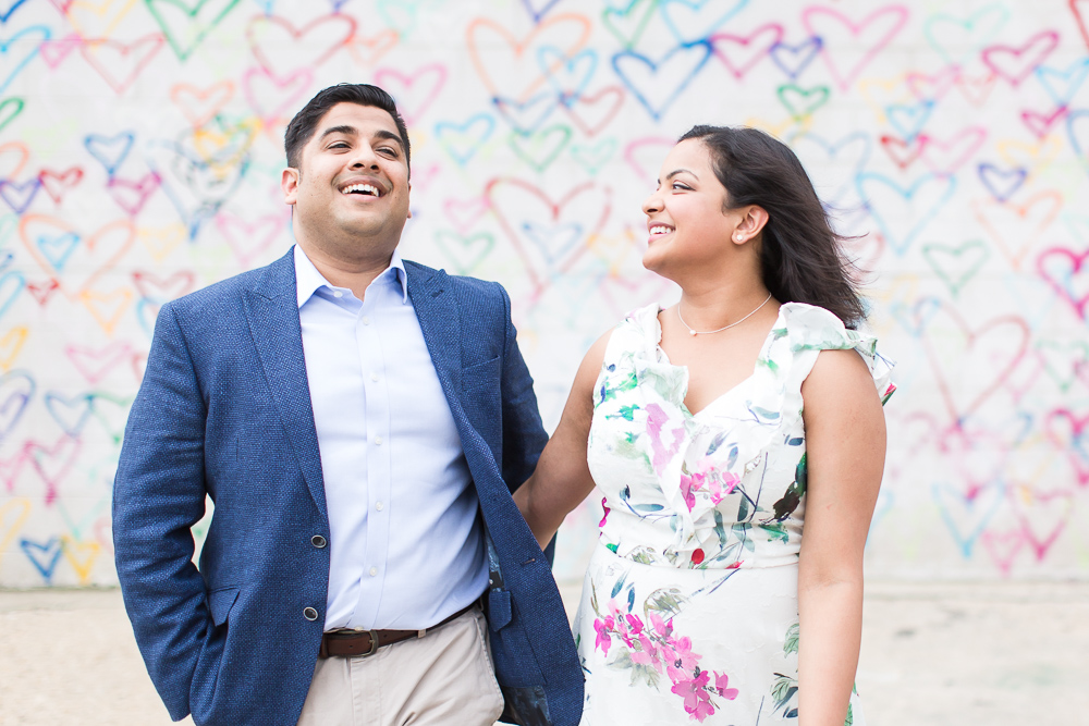 Engagement picture laughter | Candid DC Engagement Photos | Megan Rei Photography