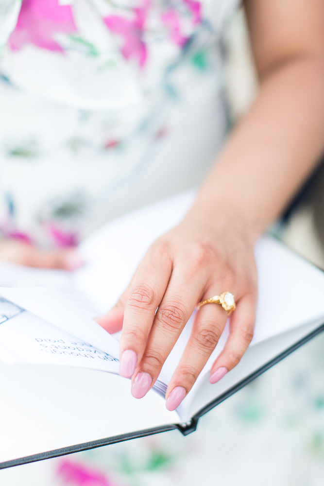 Turning the pages of their love storybook | Engagement ring by Isabel Bond | DC Engagement Photographer