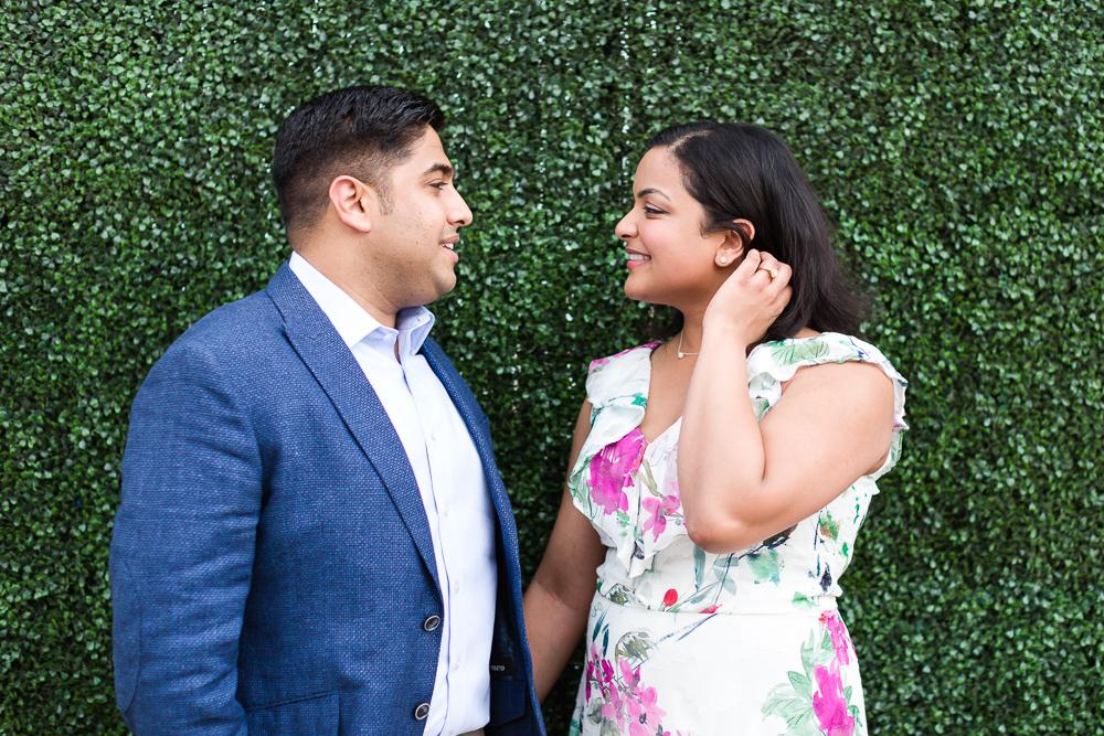 Engagement pictures at Union Market, DC | Washington DC Engagement Photo Locations